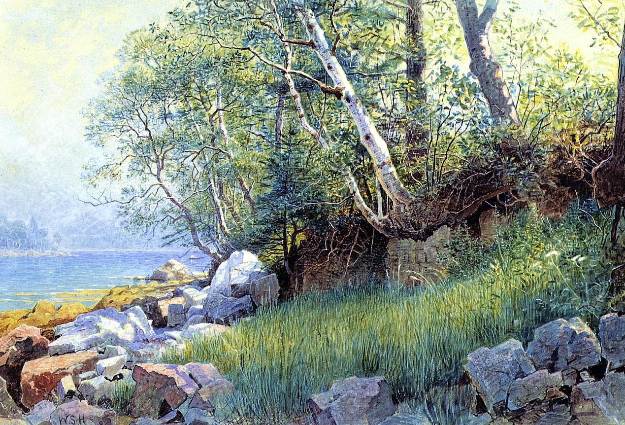 North East Harbor Maine 1895 | William Stanley Haseltine | oil painting