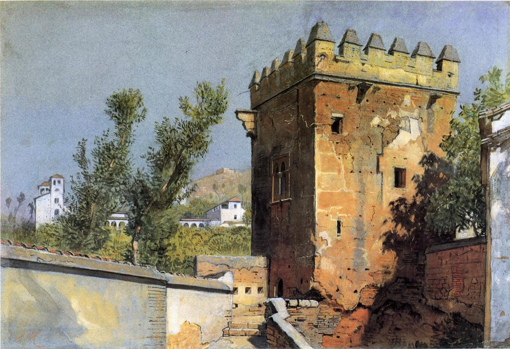 View from the Alhambra Spain 1882 | William Stanley Haseltine | oil painting