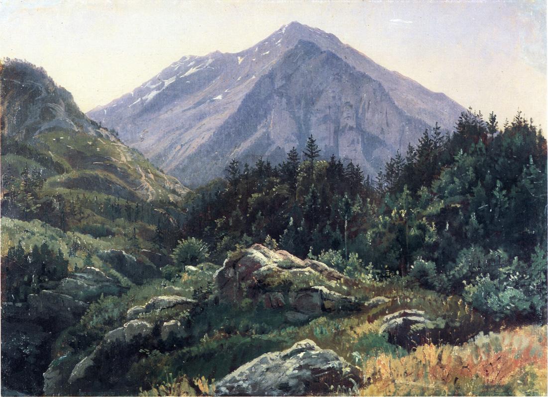Mountain Scenery Switzerland 1856 | William Stanley Haseltine | oil painting