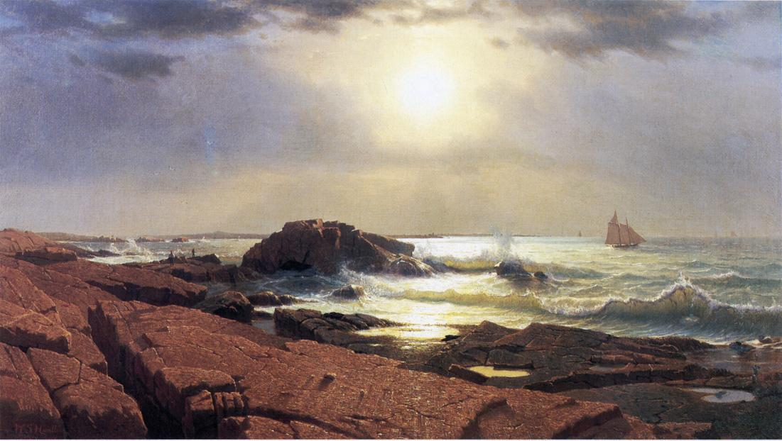 Indian Rock Narragansett 1863 | William Stanley Haseltine | oil painting