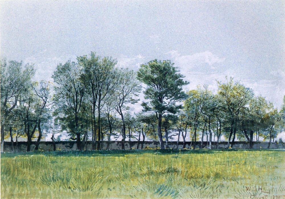 Coppet Lake Geneva 1880   William Stanley Haseltine   oil painting