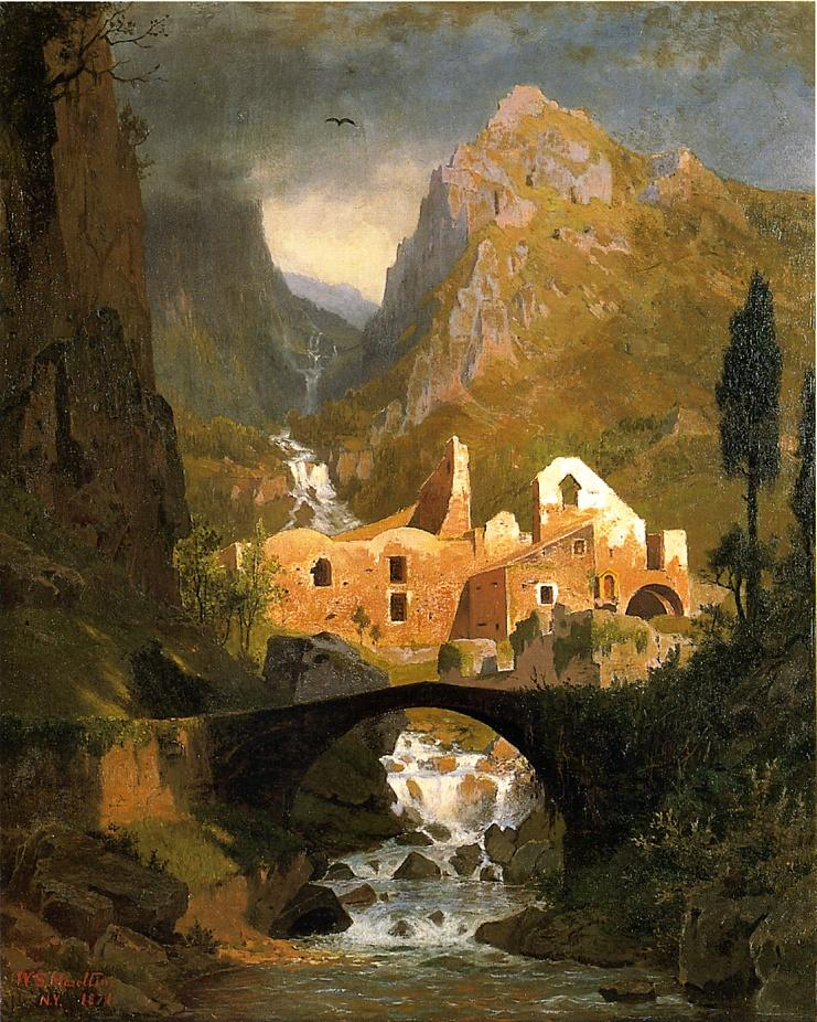 Valle dei Molini Amalfi 1871 | William Stanley Haseltine | oil painting