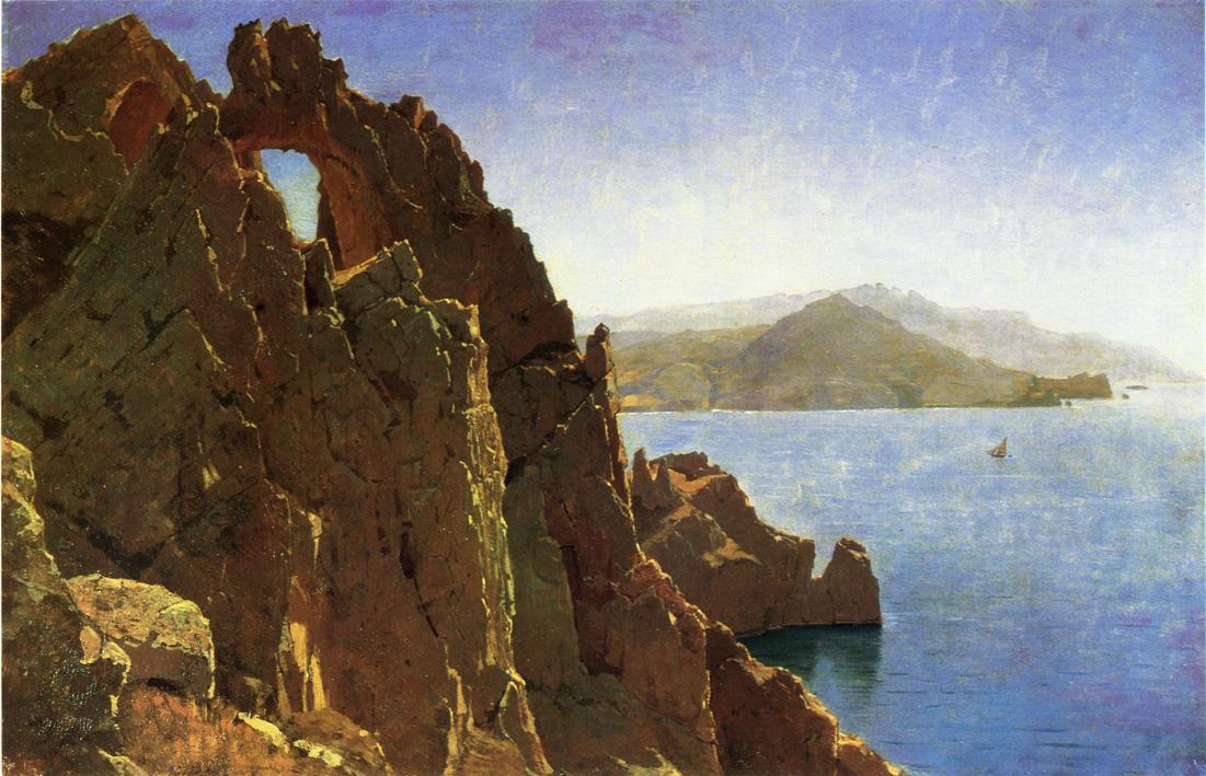 Nataural Arch Capri 1870 | William Stanley Haseltine | oil painting