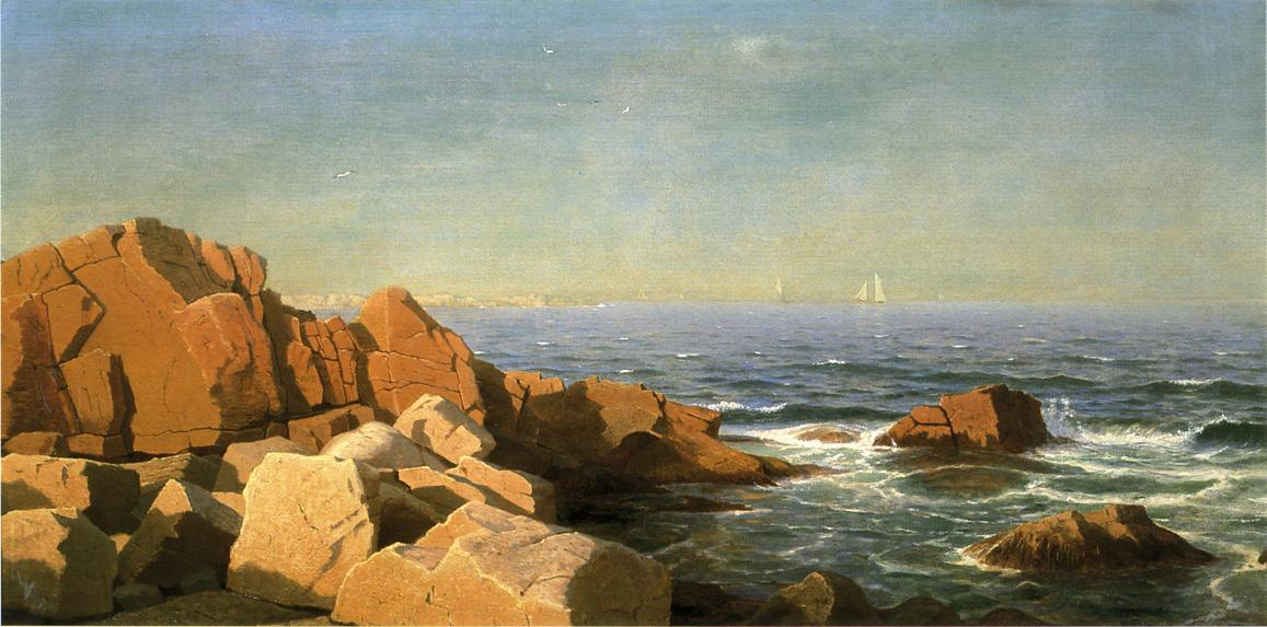 Sunny Afternoon Newport Rhode Island 1865 | William Stanley Haseltine | oil painting