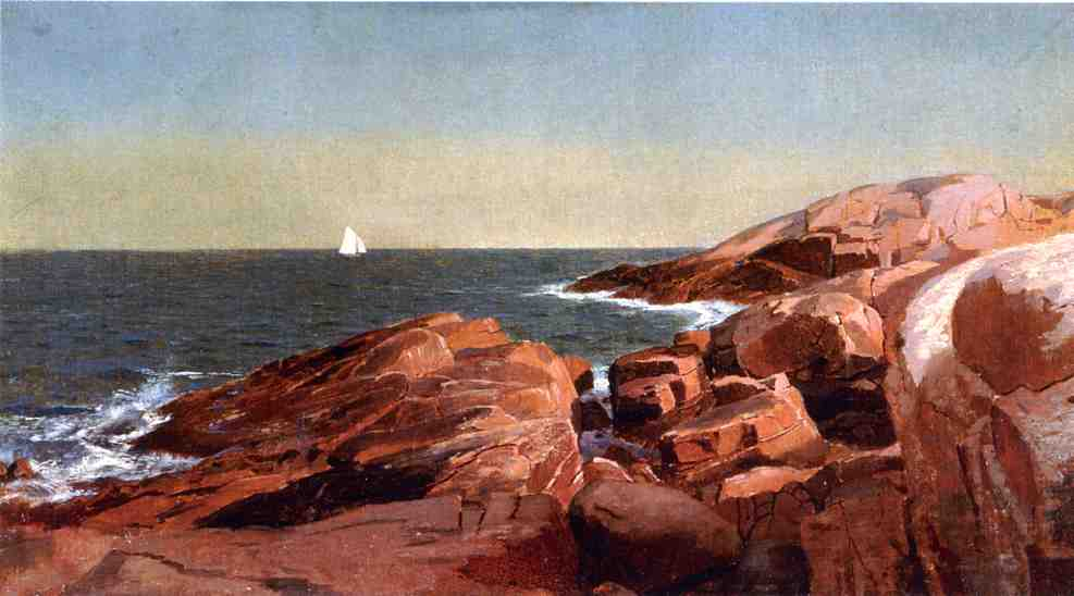Rocks at Narragansett 1860 1869 | William Stanley Haseltine | oil painting