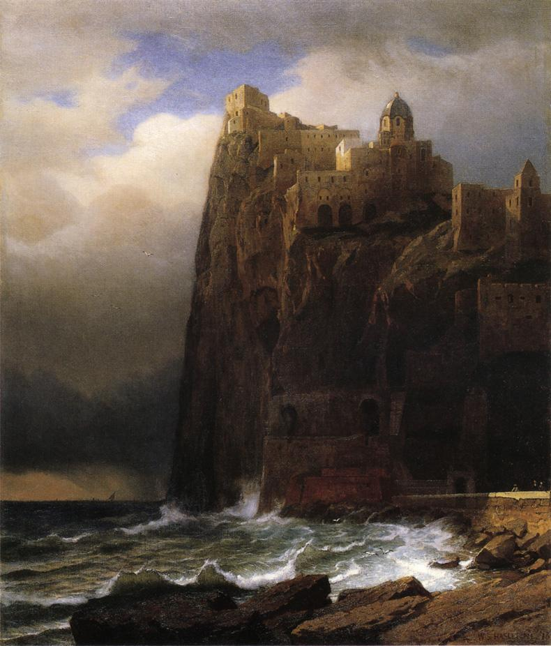 Coastal Cliffs 1873 | William Stanley Haseltine | oil painting