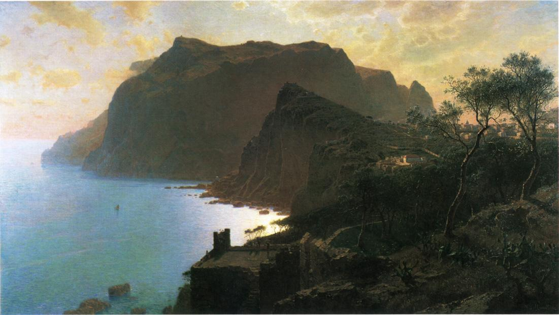 The Sea from Capri 1875 | William Stanley Haseltine | oil painting