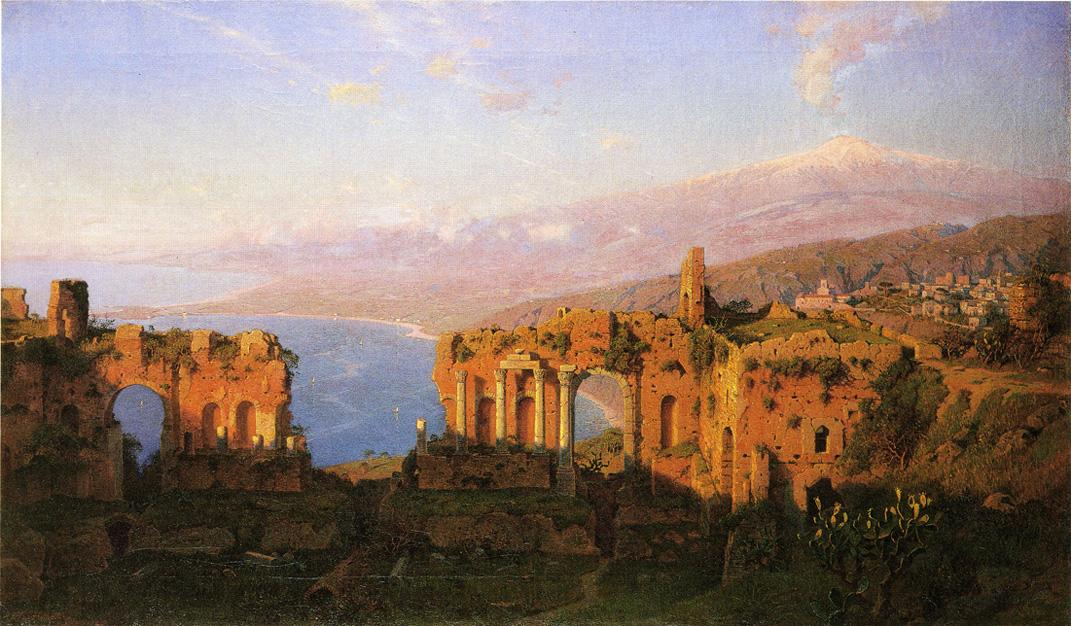 Ruins of the Roman Theatre at Taormina Sicily 1889 | William Stanley Haseltine | oil painting