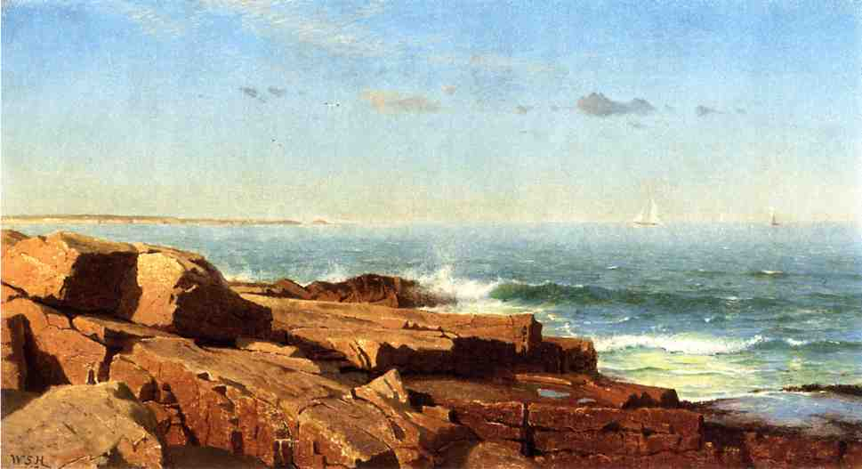 Off Newport 1863   William Stanley Haseltine   oil painting