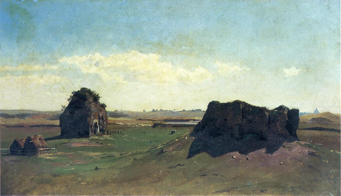 Torre degli Schiavi Campagna Romana 1857 1858 | William Stanley Haseltine | oil painting