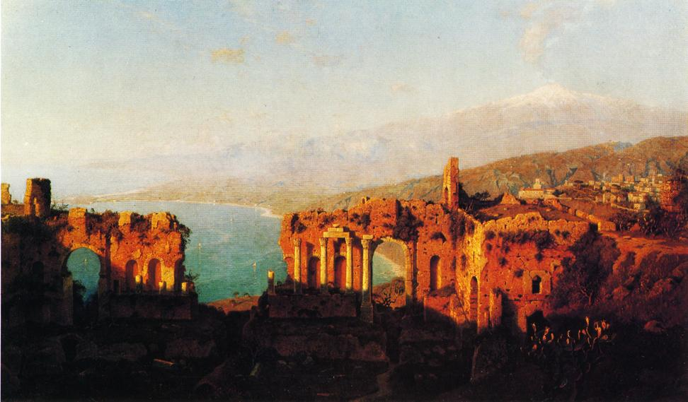 Mt Etna from Taormina 1889 | William Stanley Haseltine | oil painting