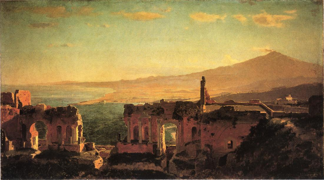 Mt Aetna from Taormina 1871 | William Stanley Haseltine | oil painting