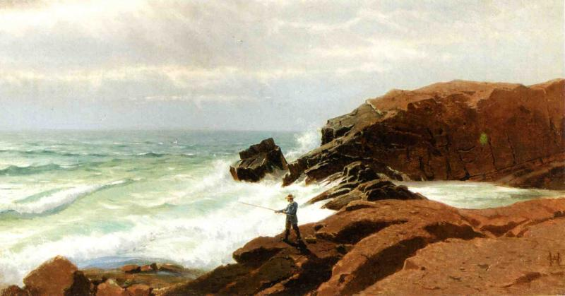 Fisherman Nahant | William Stanley Haseltine | oil painting