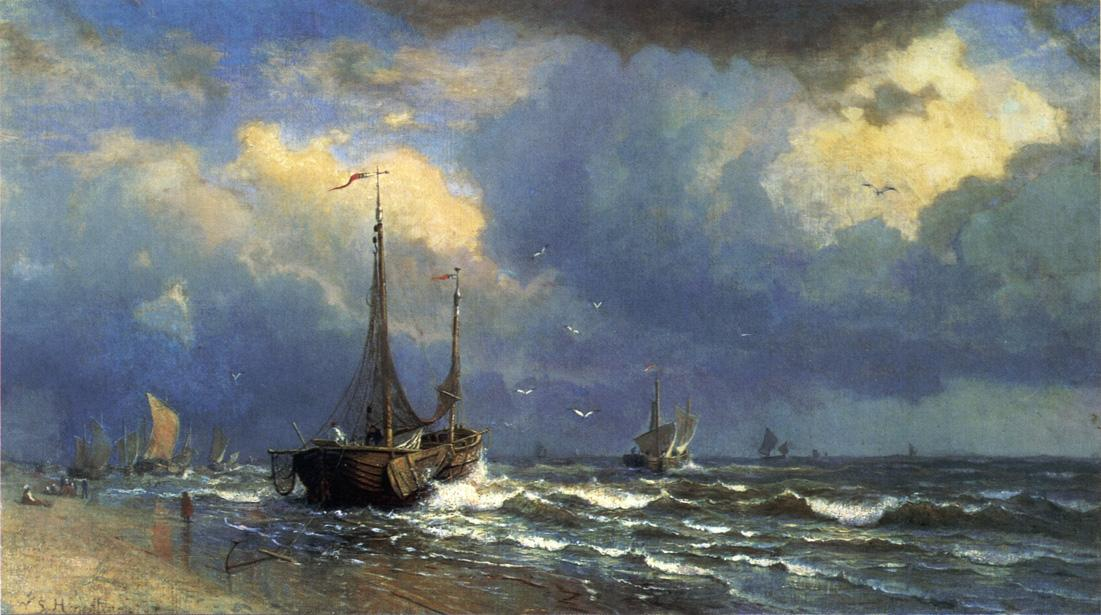 Dutch Coast 1883 | William Stanley Haseltine | oil painting