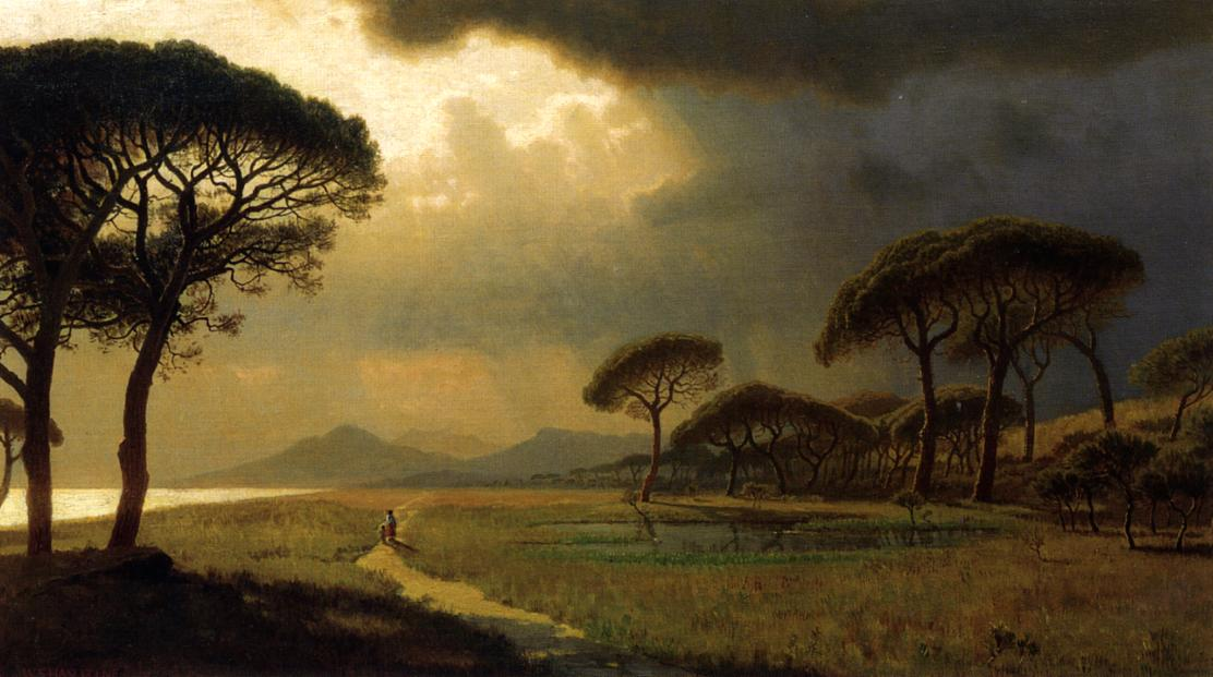 Morning Light Roman Campagna 1871 | William Stanley Haseltine | oil painting