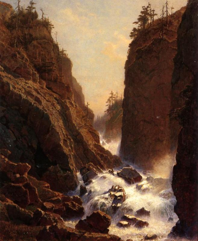 Cascade 1856 1857 | William Stanley Haseltine | oil painting