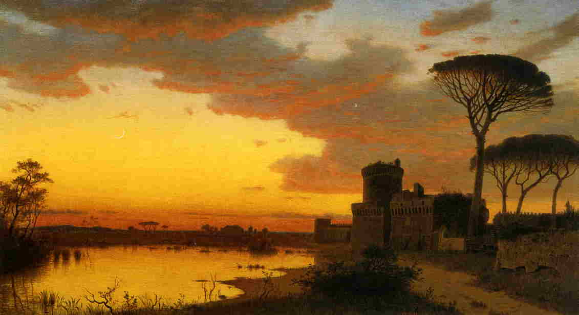Castle at Ostia Lazio Italy 1871 | William Stanley Haseltine | oil painting