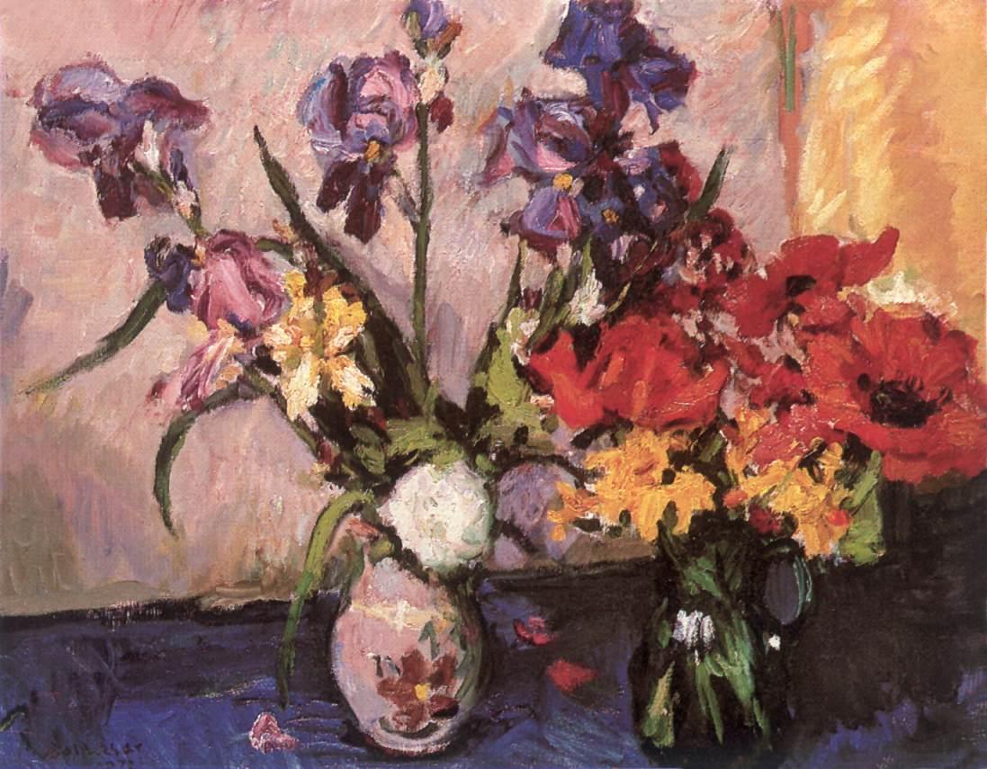 Poppies and Irises 1972 | Istvan Boldizsa | oil painting