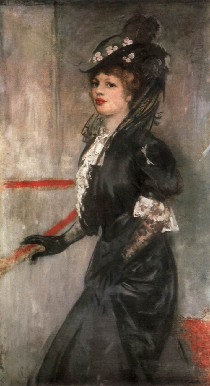 Portrait of the Painter's Wife c 1903 | Istvan Csok | oil painting