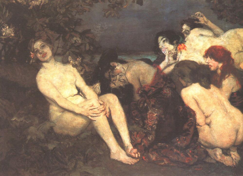 vampirok | Istvan Csok | oil painting