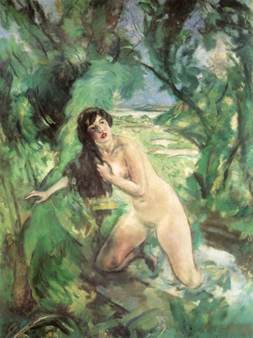 Bathing Woman (Susanna) 1920 28 | Istvan Csok | oil painting