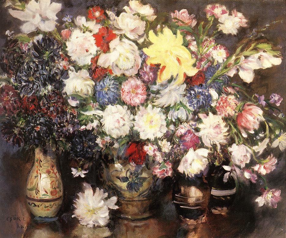 Still life with Flowers 1929 | Istvan Csok | oil painting