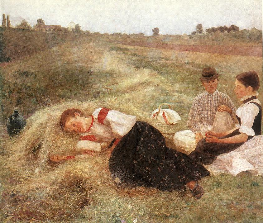 Gathering Hay 1890 | Istvan Csok | oil painting