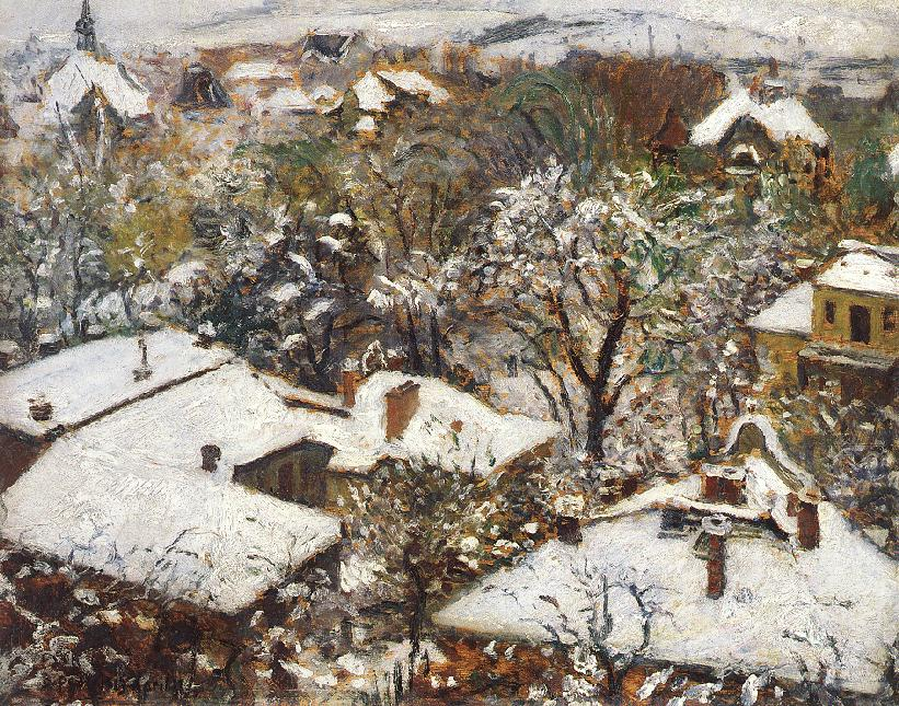 Winter in the Spring 1913 | Istvan Csok | oil painting