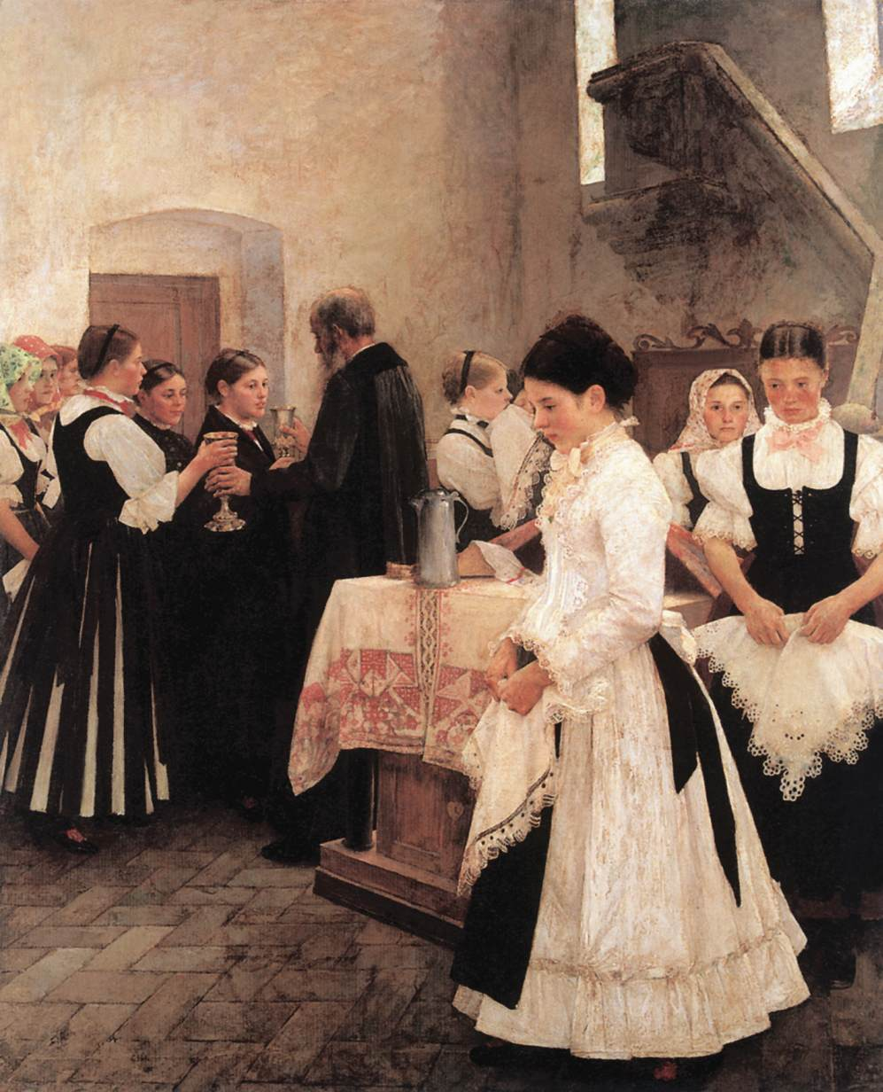 Do this in Memory of Me (Holy Communion) 1890 | Istvan Csok | oil painting