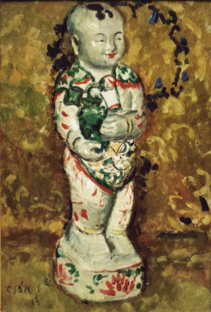 Buddha Statuette 1904 | Istvan Csok | oil painting