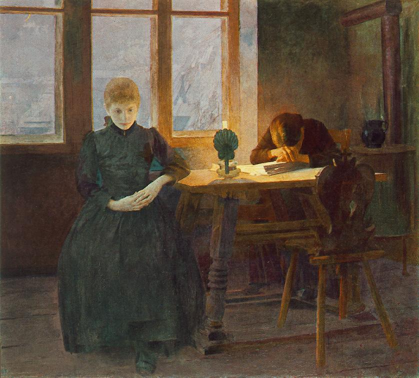 Orphans 1891   Istvan Csok   oil painting
