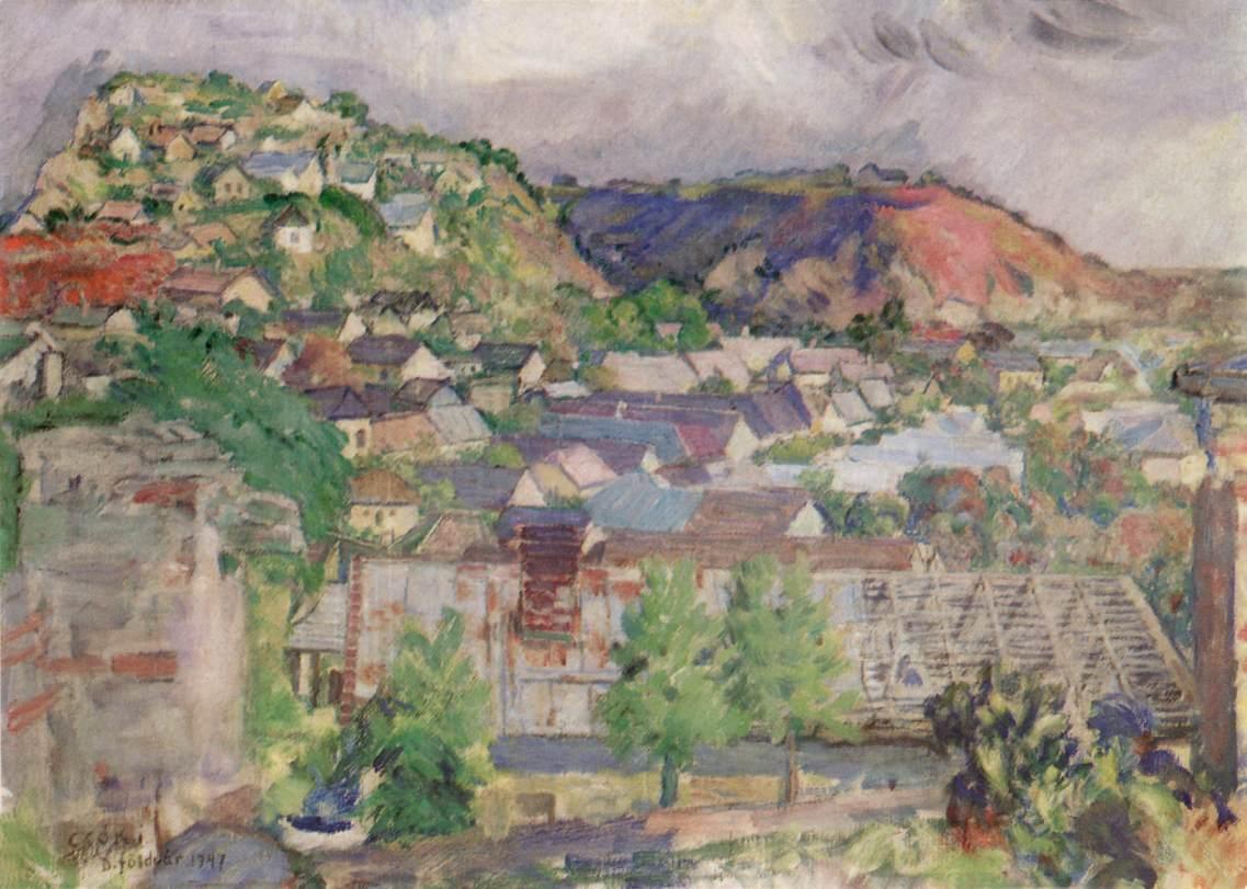 Kakashill 1947 | Istvan Csok | oil painting