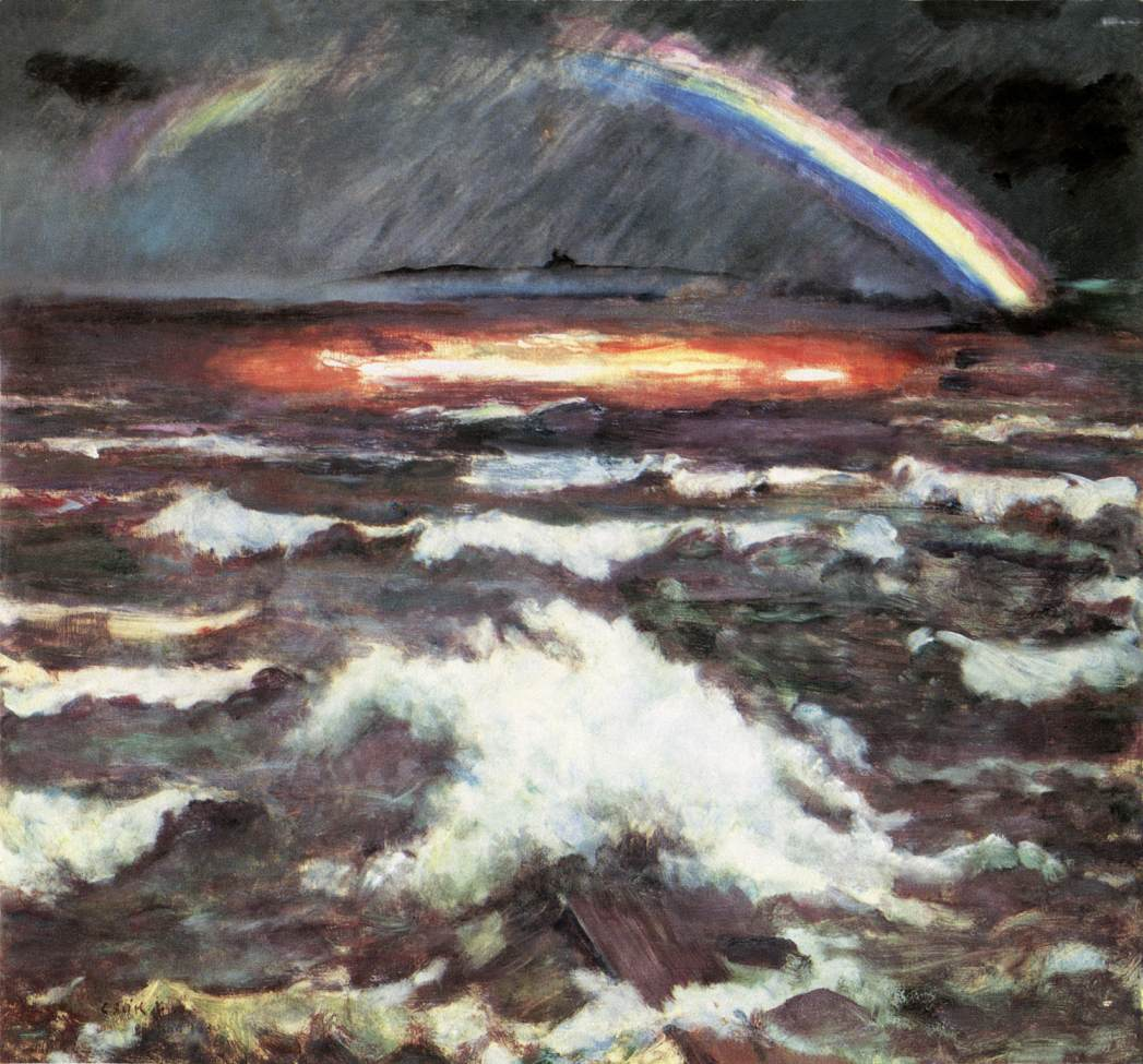 Rainbow over Lake Balaton 1930 | Istvan Csok | oil painting