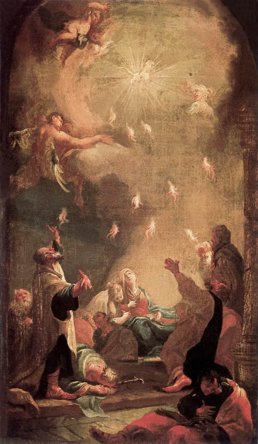 Pentecost 1782 | Istvan Dorffmaister | oil painting