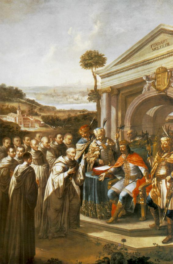 Bela III Founding the Cistercian Monastery at Szentgotthard in 1183 1795-96 | Istvan Dorffmaister | oil painting
