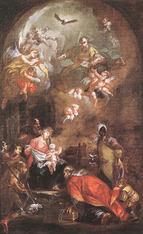 The Nativity (Sketch for the altarpiece of the Voss Orphanage at Sopron) 1772 | Istvan Dorffmaister | oil painting