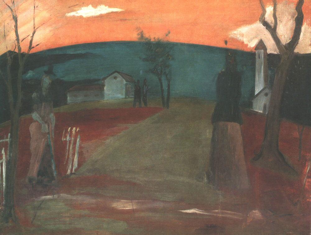 Landscape at Nightfall (Evening) 1931 | Istvan Farkas | oil painting