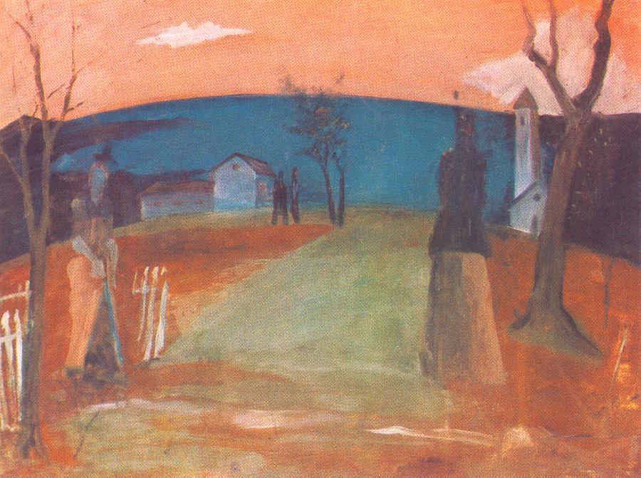 Landscape at Dusk 1931 | Istvan Farkas | oil painting