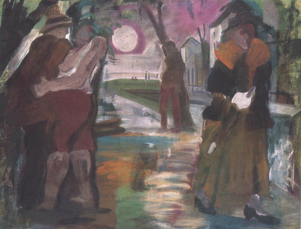 Night on the Outskirts of Town 1931 | Istvan Farkas | oil painting
