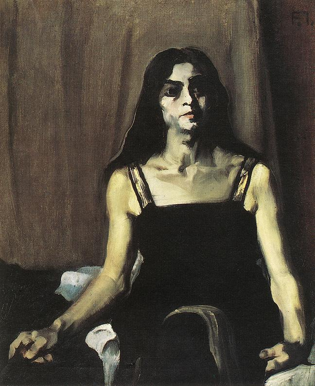 Model with Big Hands 1920 | Istvan Farkas | oil painting