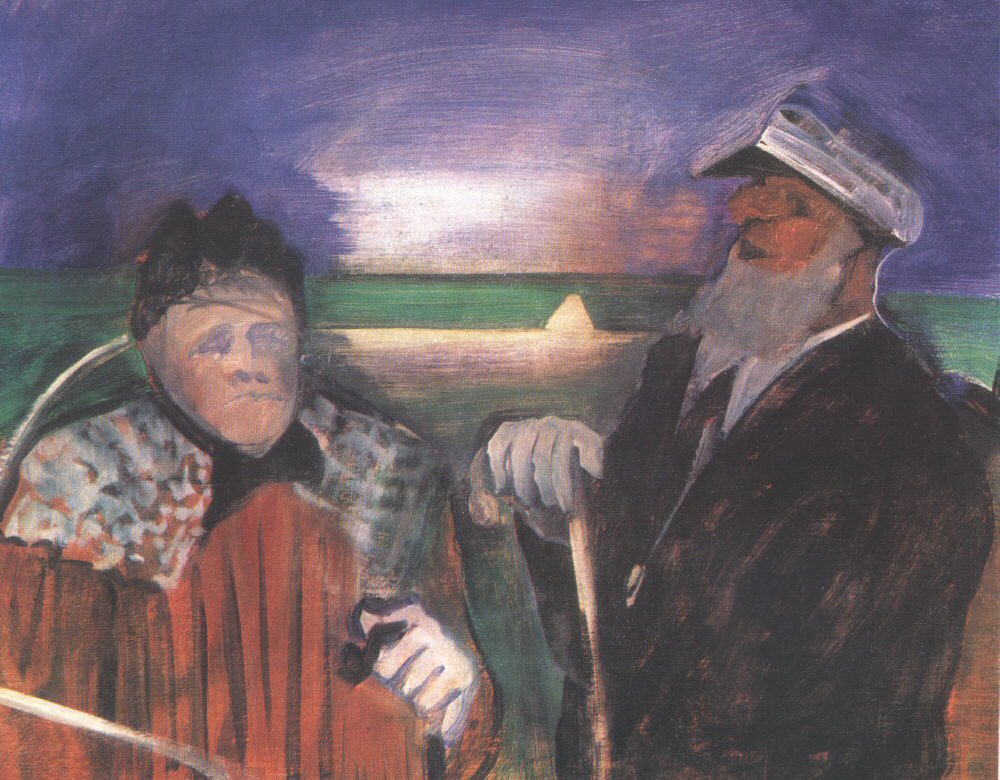 The Aged Sailor and the Old Woman 1936-39 | Istvan Farkas | oil painting