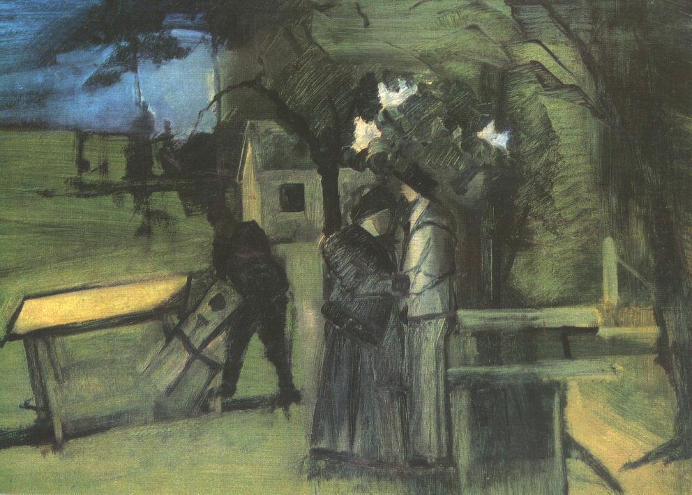 Night Scene 1939 | Istvan Farkas | oil painting