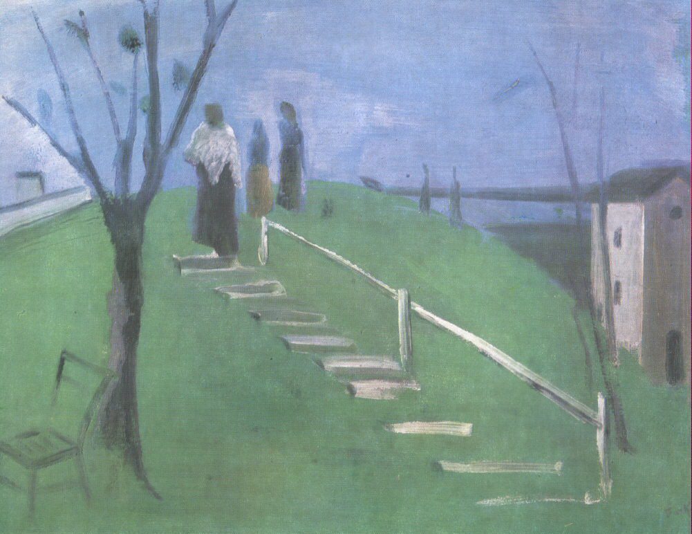 On the Hillside 1931 | Istvan Farkas | oil painting