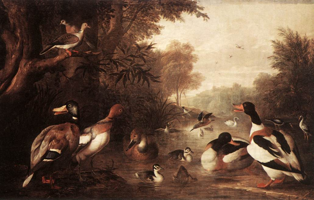 Landscape with Ducks | Jakab Bogdany | oil painting