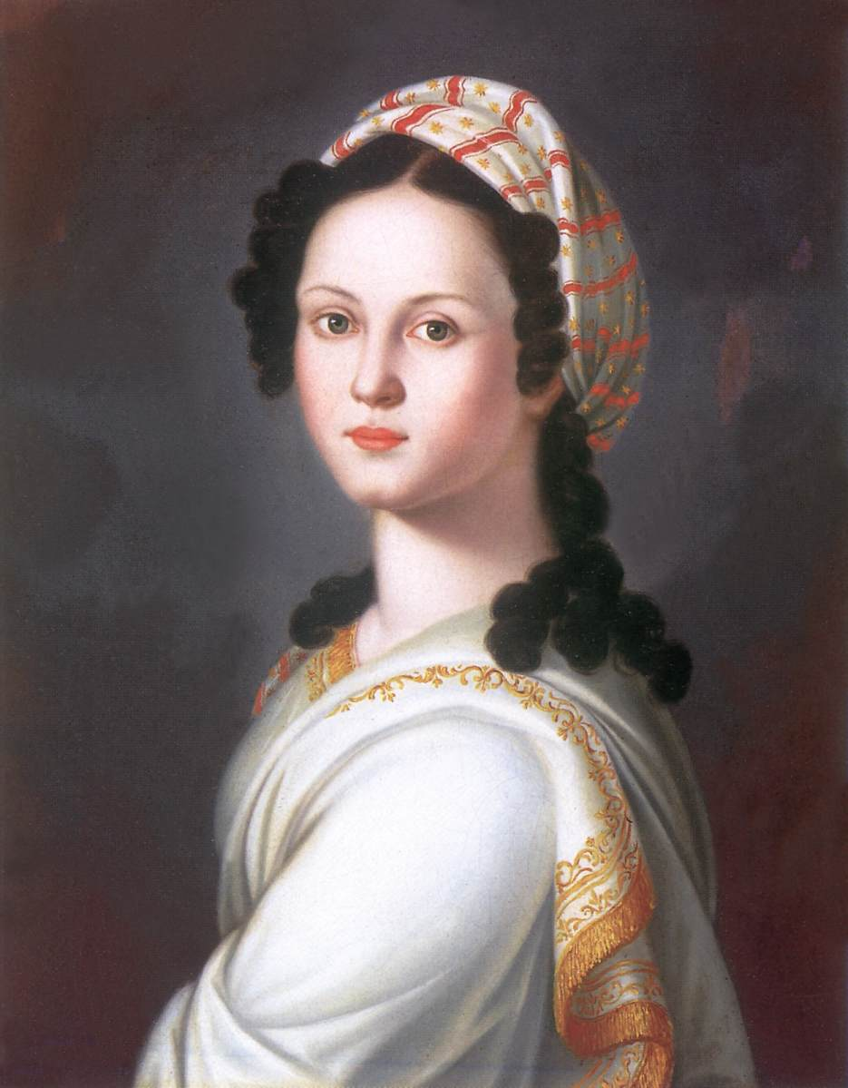 Portrait of a Young Lady   Janos Donat   oil painting