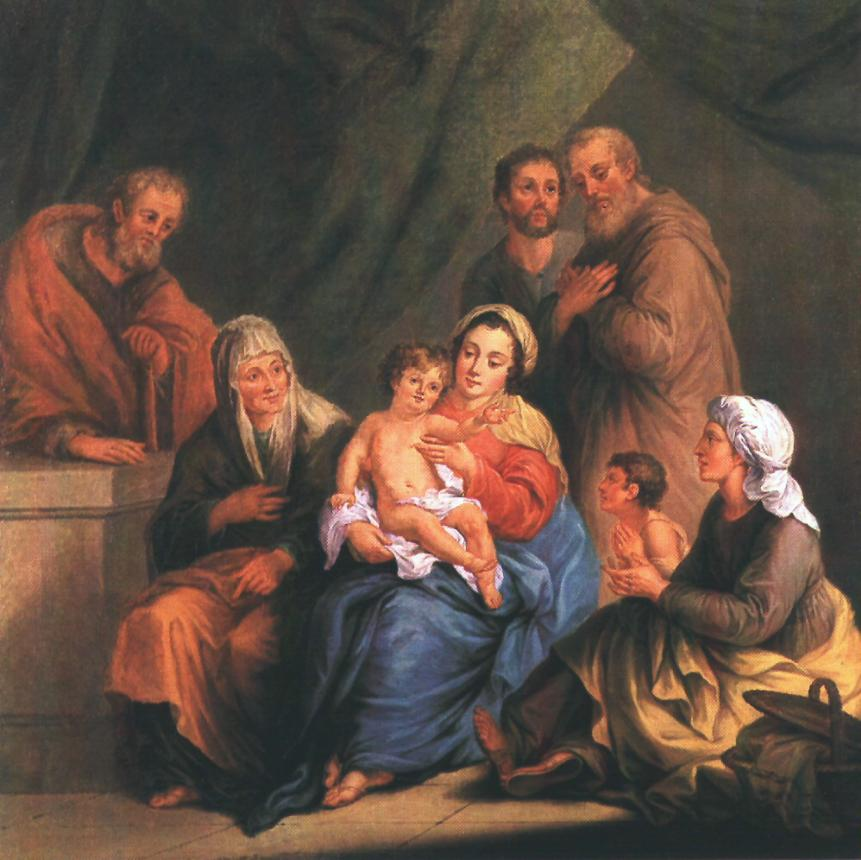 Holy Family 1808 | Janos Donat | oil painting