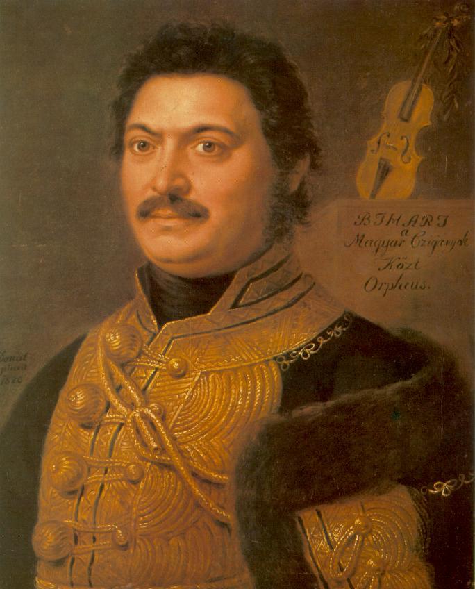Portrait of Janos Bihari Composer and Gipsy Virtuoso 1820i   Janos Donat   oil painting