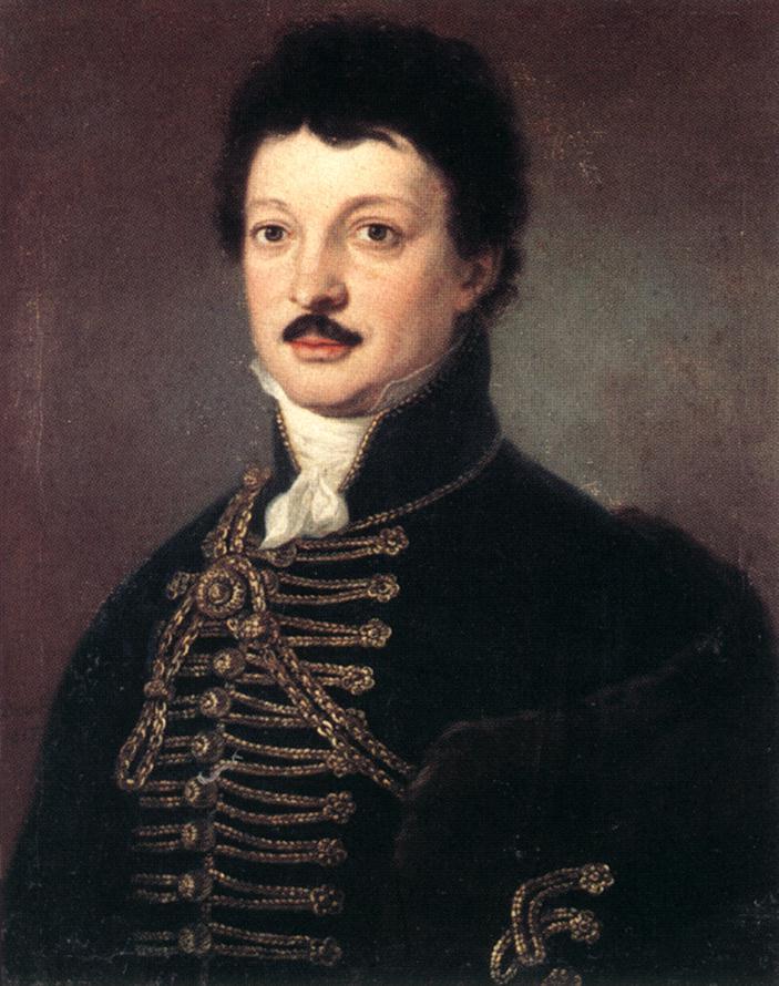 Portrait of Poet Daniel Berzsenyi 1817 | Janos Donat | oil painting