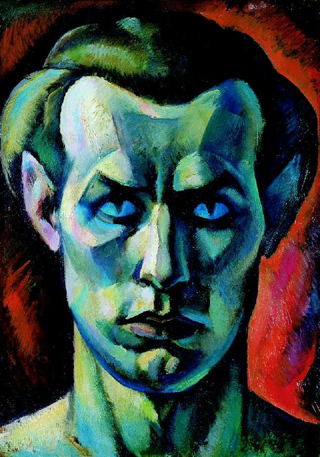 Self Portrait (Self Portrait from the Front) 1921   Jeno Gabor   oil painting