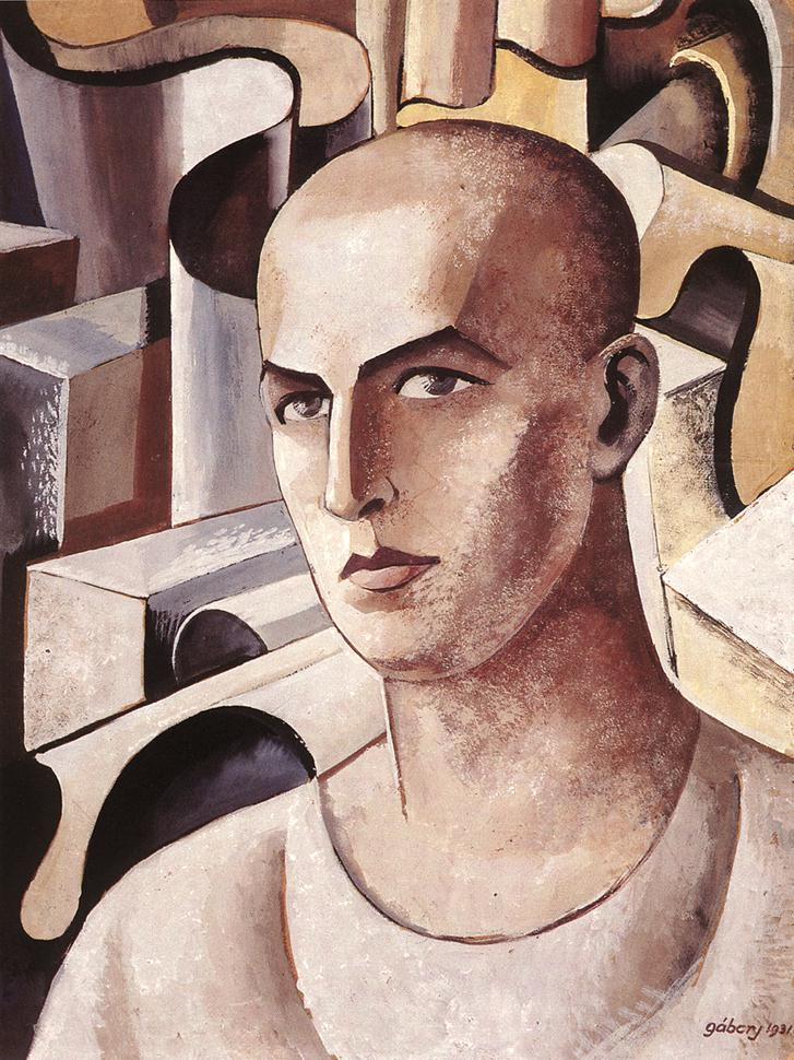 Self portrait 1931 | Jeno Gabor | oil painting